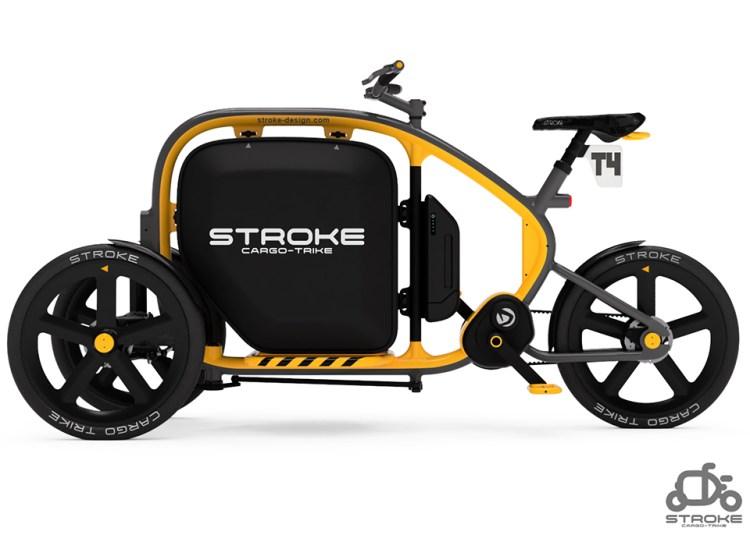 STROKE Cargo Trike試作4号機イメージレンダリング