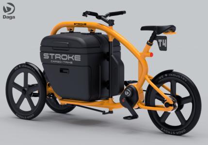 STROKEカーゴトライク(3輪カーゴバイク)のカラーイメージ(オレンジ)