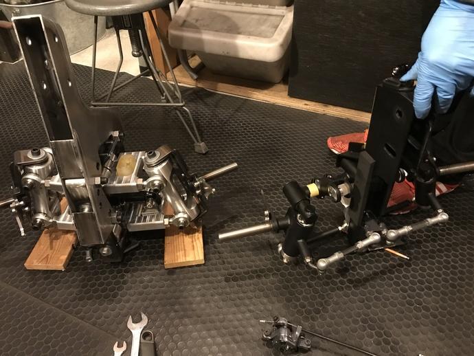 カーゴバイクSTROKE試作3.7号機のサスペンション仮組み4