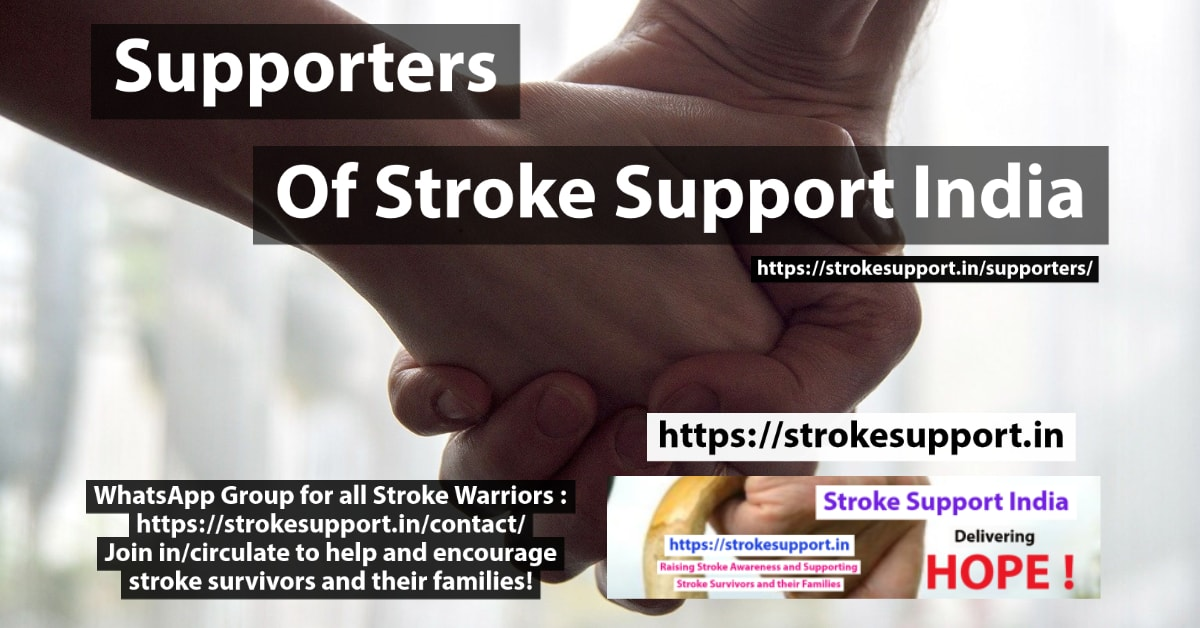 Supporters of Stroke Support India