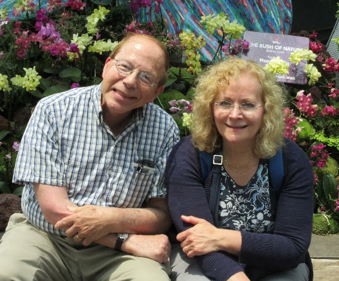photo of Paul and Stephanie at a botanical garden in Singapore, 2018