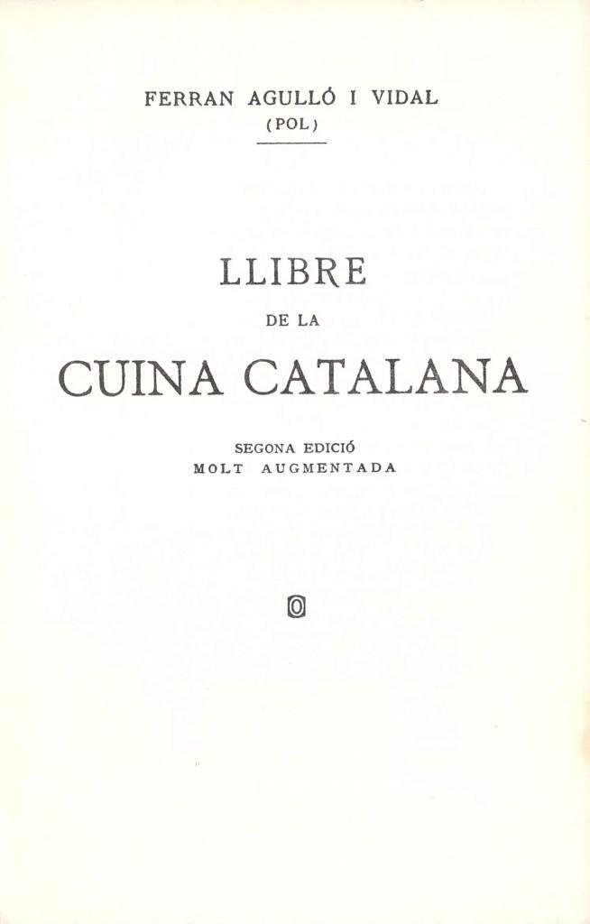 llibre de la cuina catalana ferran agulló