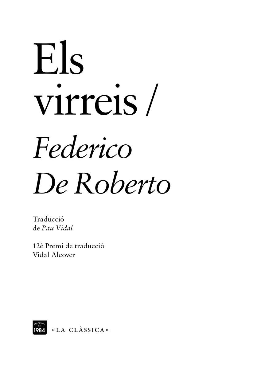 els virreis federico di roberto edicions de 1984 traducció català pau vidal lampedusa gattopardo