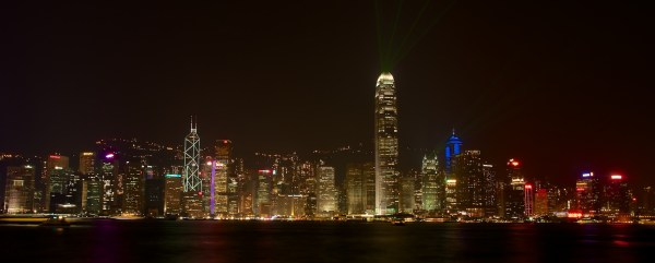 Hongkong Skyline nachts