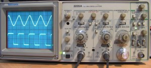 Oscilloscope sine square für Stromzange