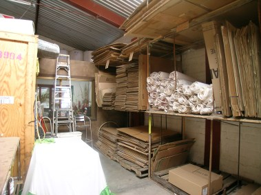 packing material in warehouse