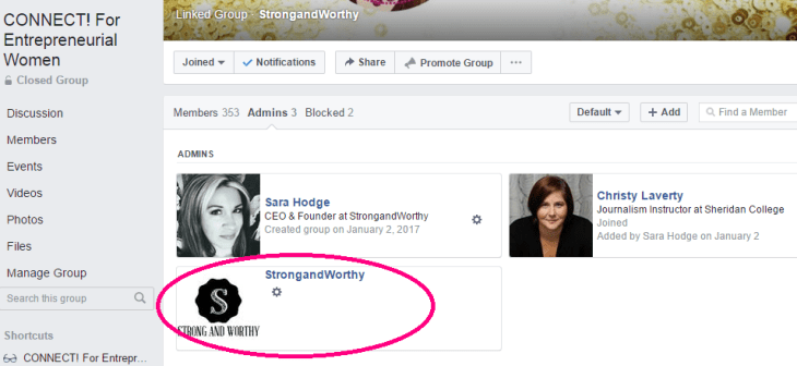 Step 10 How to link your Facebook group to your Facebook page www.strongandworthy.com