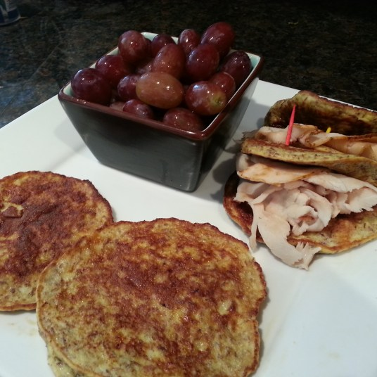 Final product. Recipe creates 4 large or 5 medium pankcakes.