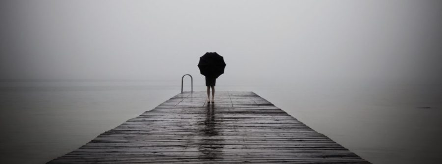person on end of dock