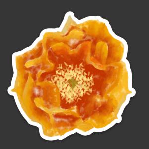 Prickly Pear Flower Sticker