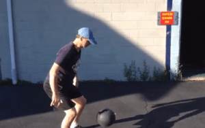 Gary slamming medicine ball