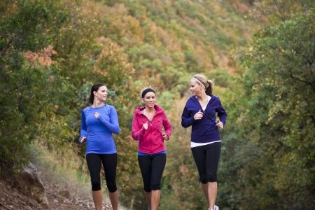 group of women jogging together