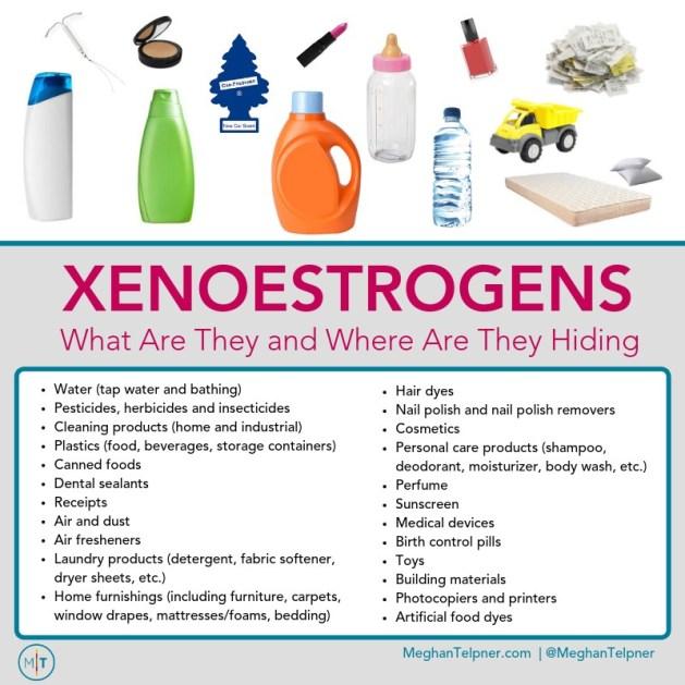 Type of Xenoestrogens