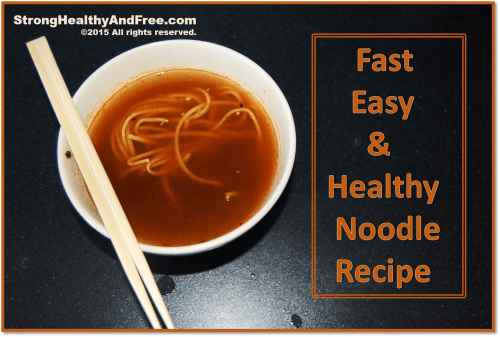 Learn how to make your own healthy noodles with this fast and easy recipe!