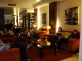 (07/10) instalação do grupo no Hotel NH Campo Grande - Lisboa, após a viagem para mais um módulo internacional