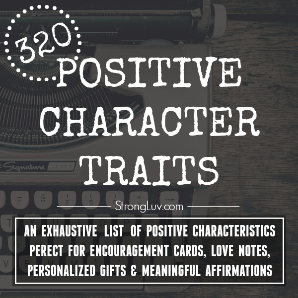 list of positive character traits