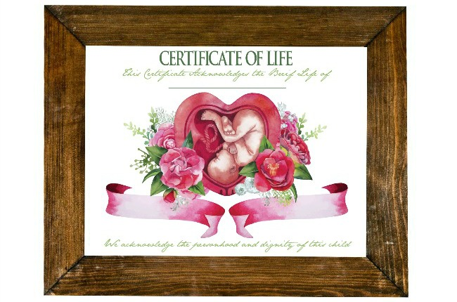 memorialize aborted baby