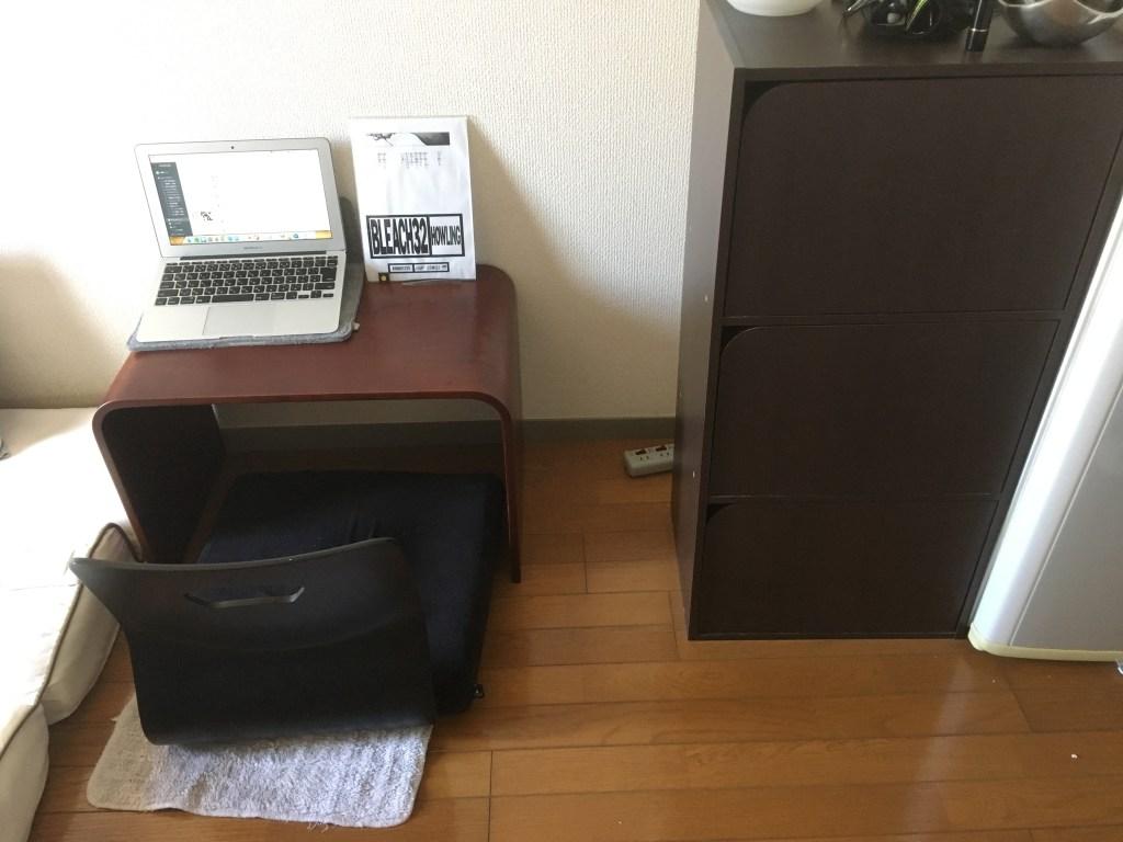 断捨離前の書斎机