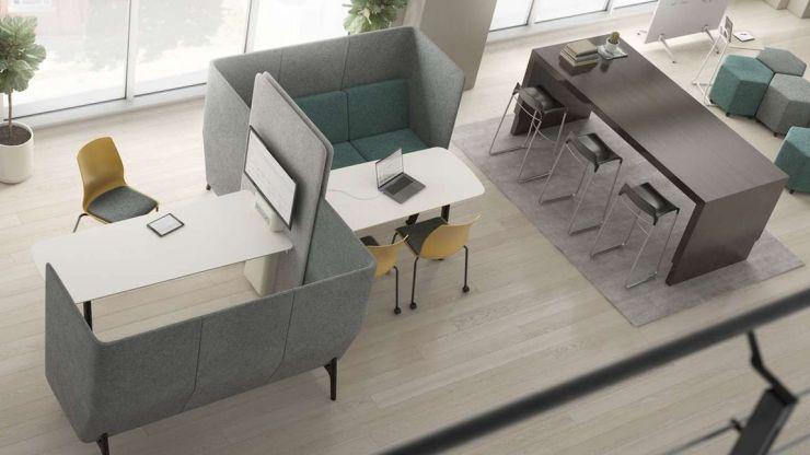 socially distancing office furniture
