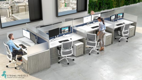 modern office cubicle