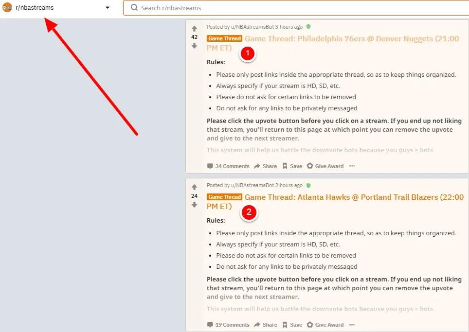 reddit nba streams guide