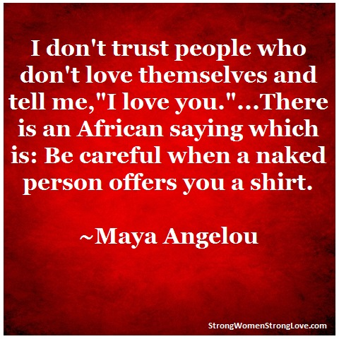 I do not trust people