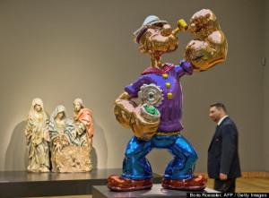 """Popeye"" by US artist Jeff Koons"
