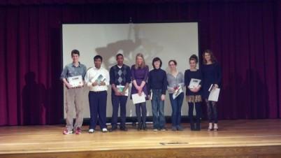 Finalists on the Saint Joe's Auditorium stage. Photo Credit: Alexandra Korcz