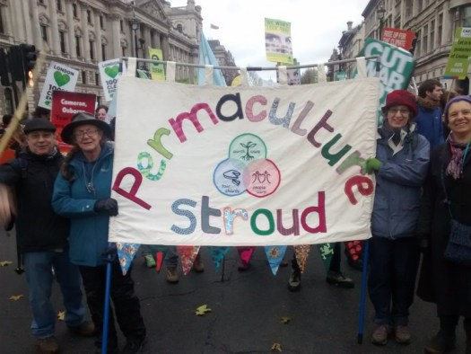 Climate Change March London 29 November 2015 - Stroud Permaculture Group banner