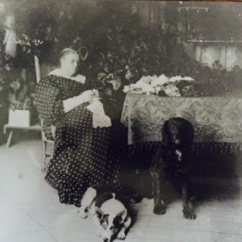 Mrs Le Mottee oversees hotel business from the front verandah