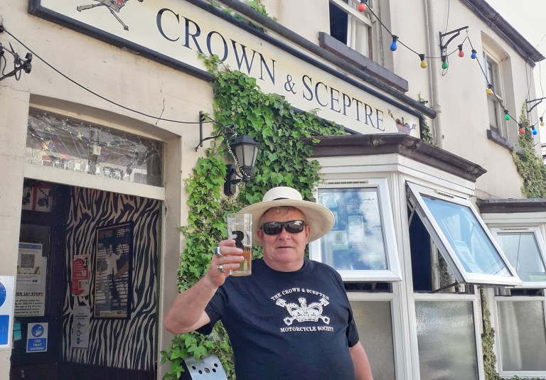 Cheers: publican Rodda toasts normality with a difference
