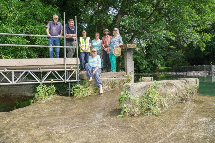 Work transforms historic millpond and water flows once more