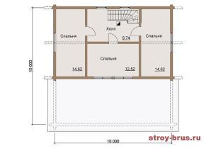 План - 2 этаж (52м2)
