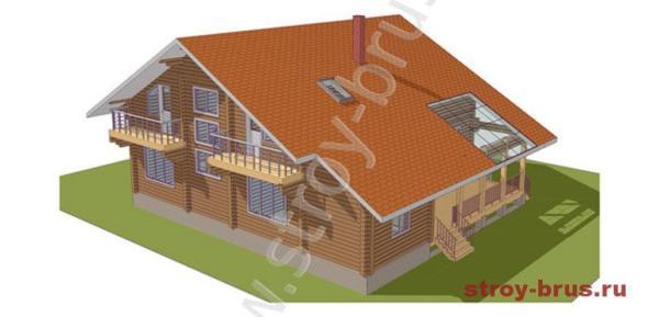 Рисунок дома из клееного бруса за 3 900 000 рублей