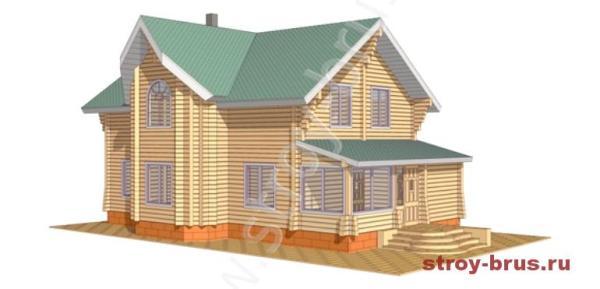 Изображение деревянного дома