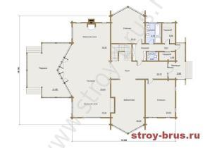 1 этаж деревянного дома Гранд