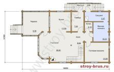 План помещений в доме Усадьба