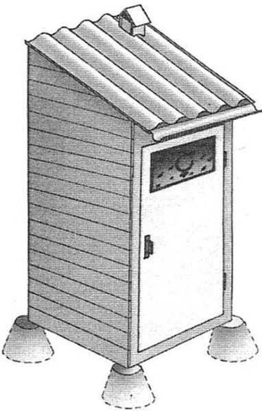 Dachaトイレのセスプールの浄化槽タンク - そして防水の問題はありません