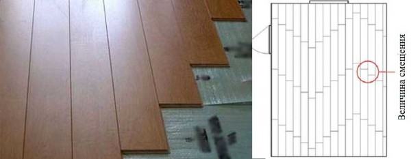 "You can lay the laminate with ""Lestenka"", only to observe the minimum allowable seam shift"