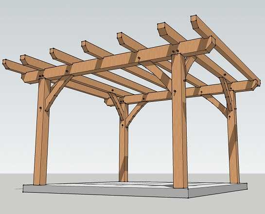 La conception de pergola la plus simple