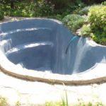 Кептіруден кейін гипс бассейндер үшін акрил бояуымен боялған (5 литр қалды)