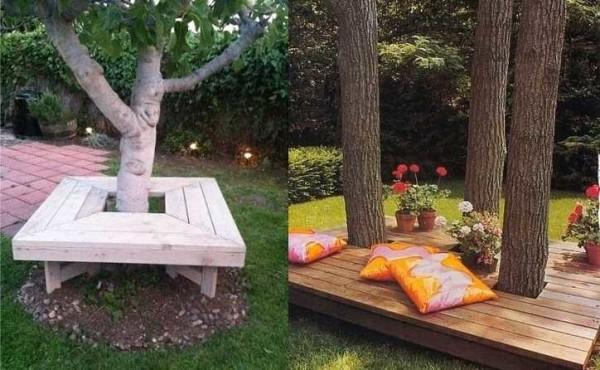 나무 아래에서 휴식을 취하기 위해 장소