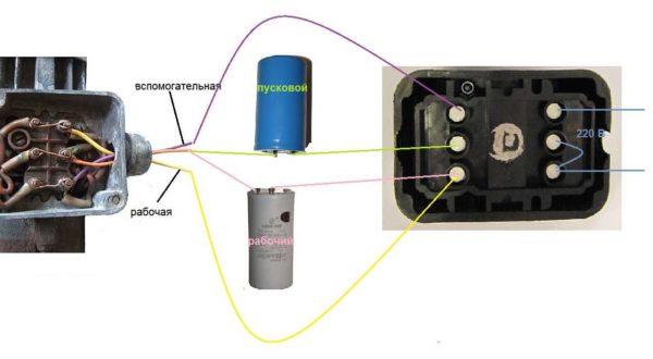 İki kapasitörlü kondenser motor bağlantı devresi - çalışma ve başlangıç