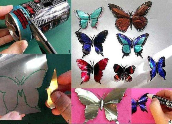 """""""Butterfly"""" seinään sisustus, voit käyttää jopa olutpankkeja"""