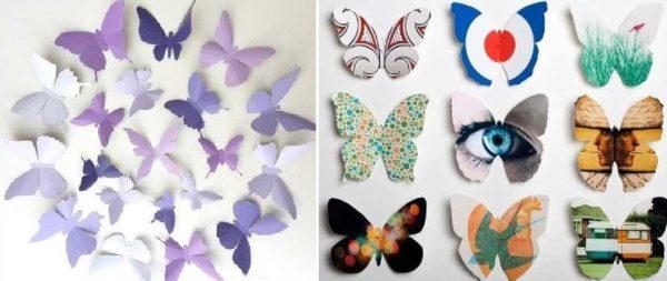 Nämä ovat ääriviivat perhosia sisustukseen - tehdä niitä yksinkertaisesti, ja ne näyttävät ihanalta