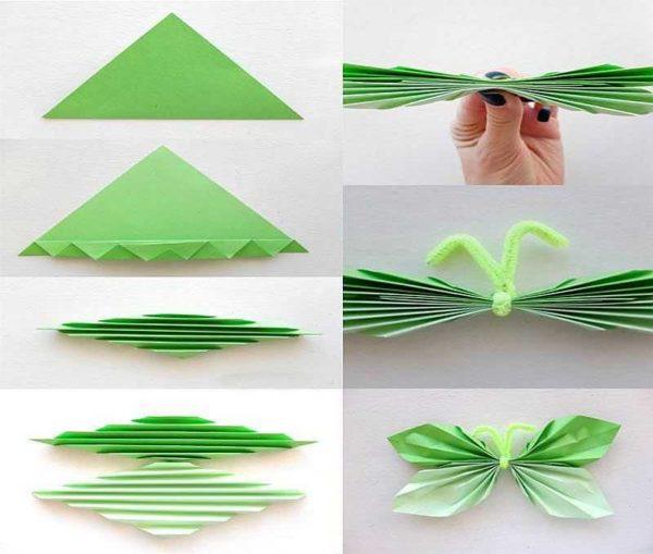 Kuinka tehdä paperin perhoset seinään sisustukseen
