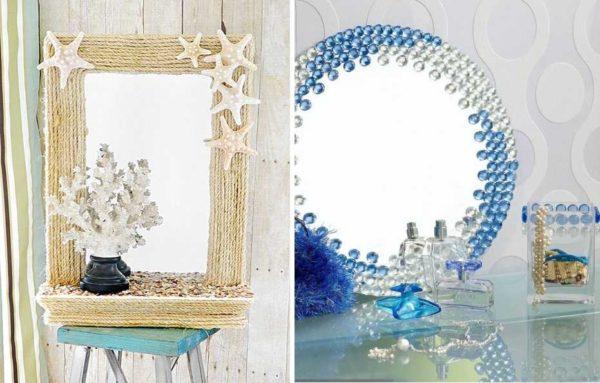 Peilin sisustus omalla kädet voidaan tehdä missä tahansa tyylissä.