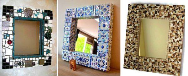 Hjemmelaget speil fra mosaikk