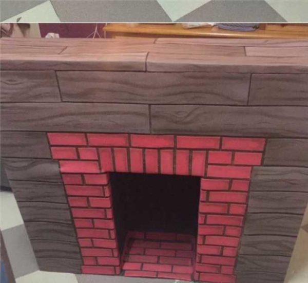 Imitação de alvenaria de tijolos diferentes