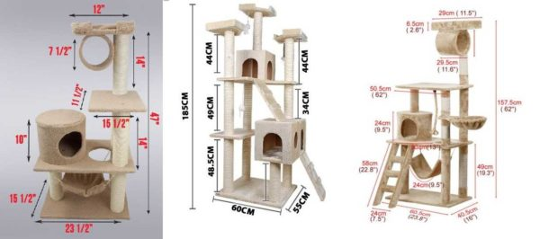 Stock foto feline huse med dimensioner